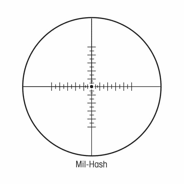 Sightron SIII Long Range Rifle Scope 6-24x50mm 30mm Tube Side Focus Matte Mil-Hash Reticle